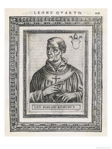 Pope Leo IV Pope and Saint Giclee Print