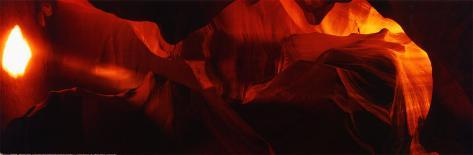 Cave in Antelope Canyon Poster