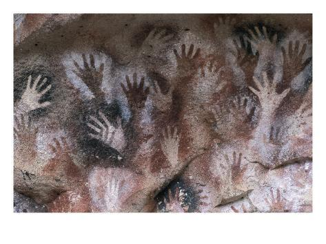 Cave of the Hands Art Print