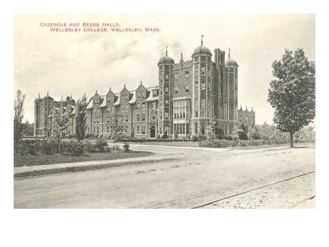 Cazenove and Beebe Halls, Wellesley College, Wellesley, Mass. Lámina