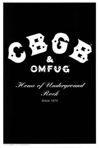 CBGB & OMFUG Home of Underground Rock Music Poster Print Poster