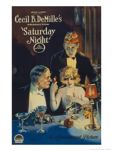 Cecille B. Demille's Saturday Night, c.1922 Lámina