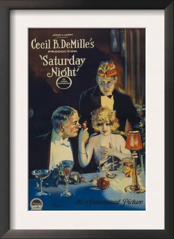 Cecille B. Demille's Saturday Night, c.1922 Impressão artística emoldurada