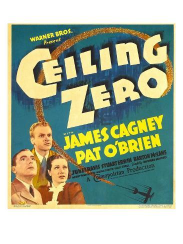 Ceiling Zero, Pat O'Brien, James Cagney, June Travis on Window Card, 1936 Fotografía
