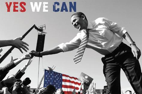 Barack Obama: Yes We Can (crowd) Art Print