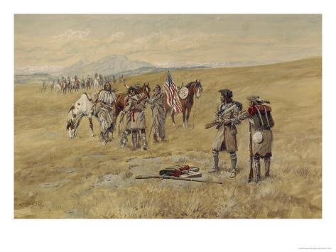Captain Meriwether Lewis Meeting the Shoshones Giclee Print