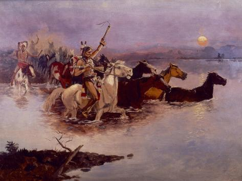 Crossing the River Giclee Print