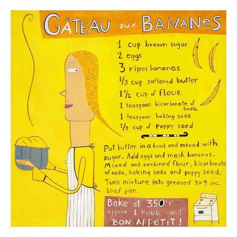 Gateau aux Bananes Stampa artistica