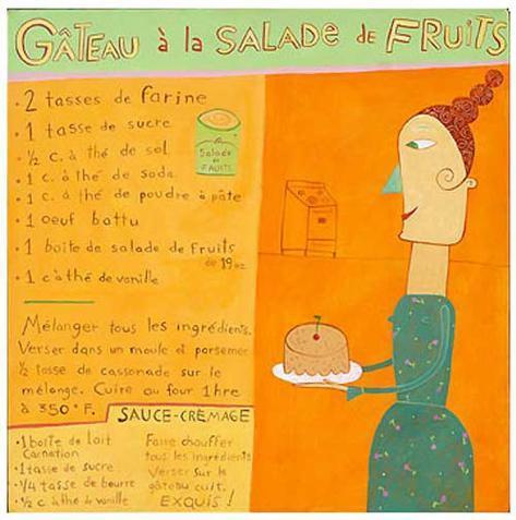 Gateau Salade de Fruits Art Print