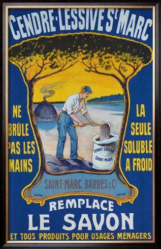 Cendre lessive saint marc framed giclee print - Lessive saint marc ...