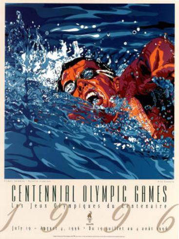 Centennial Olympic Games Swimming Atlanta, c.1996 Poster