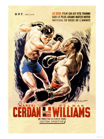 Cerdan vs. Williams Art Print