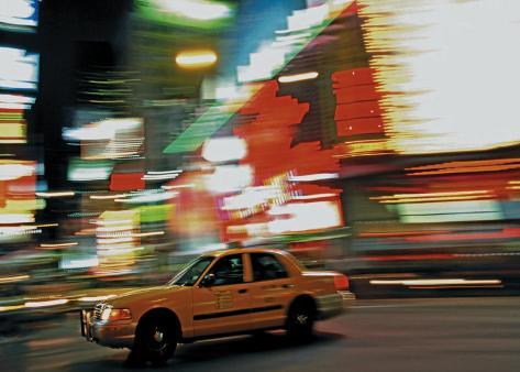 Taxi Trip Art Print