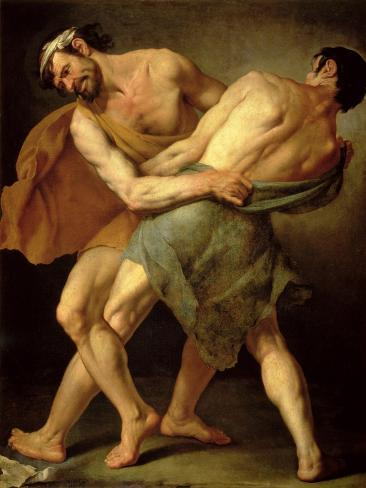 Two Wrestlers Giclee Print