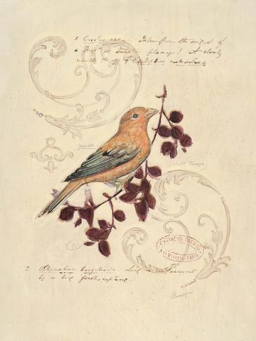 Filigree Songbird Art Print
