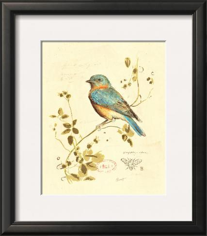 Gilded Songbird IV Framed Art Print