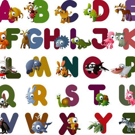 Animal Alphabet Impressão artística