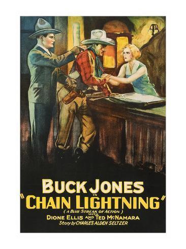 Chain Lightning Art Print