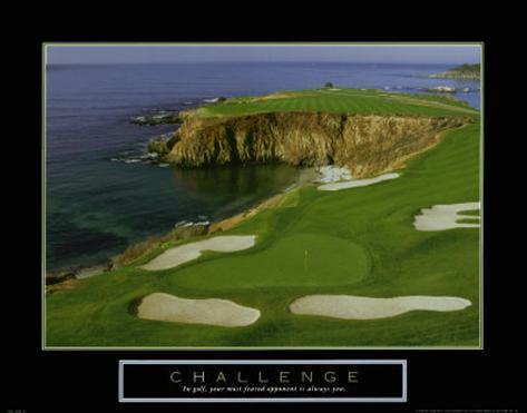 Challenge: Golf Art Print