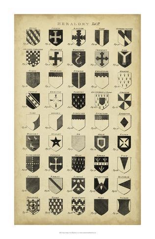 Vintage Heraldry II Giclee Print