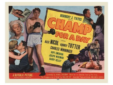 Champ For A Day, 1953 Stretched Canvas Print