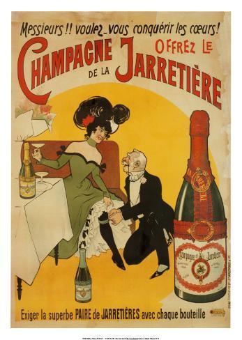 Champagne De La Jarretiere Art Print