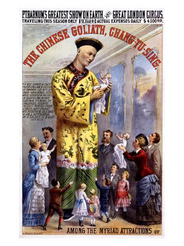 P.T. Barnum and the Great London Circus: The Chinese Goliath Giclee Print