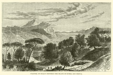 Channel of Chalcis Between the Island of Euboea and Boeotia Giclee Print