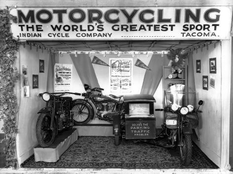 Indian Cycle Co. Booth at Puyallup Fair, 1927 Giclee Print