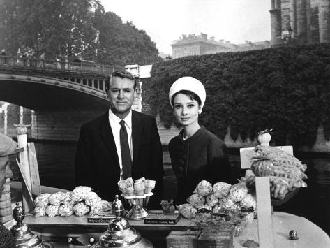Charade, Cary Grant, Audrey Hepburn, 1963 Photo