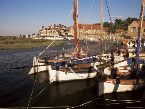 Boats Moored In Harbour Blakeney Hotel Norfolk England United Kingdom