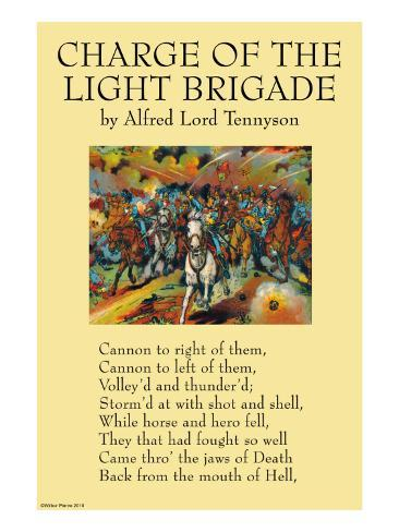 the charge of the light brigade by alfred tennyson essay 'the charge of the light brigade' written by alfred lord tennyson in 1854 and 'after blenheim' written by robert southey in 1796 are both poems which deal with the many aspects of war.