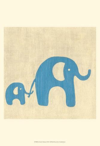 Best Friends - Elephants Art Print