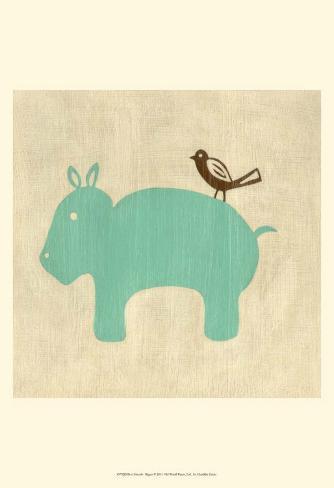 Best Friends - Hippo Art Print