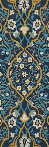Cobalt Tapestry II Art Print