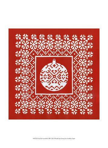 Fair Isle Snowflake III Art Print