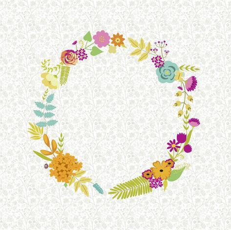 Girly Wreath I Art Print