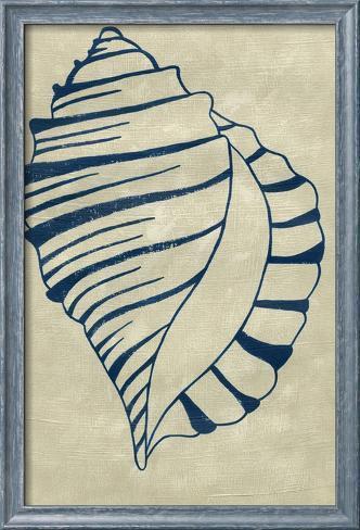 Indigo Shell V Framed Art Print