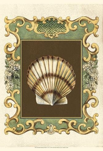 Mermaid's Shells IV Art Print