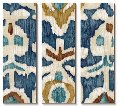 Ocean Ikat I Canvas Art Set