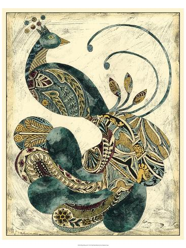 Royal Peacock I Art Print