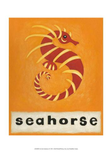 S is for Seahorse Art Print