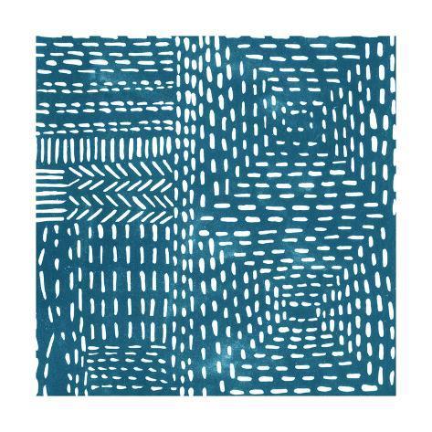 Sashiko Stitches I Premium Giclee Print