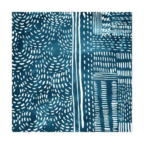 Sashiko Stitches II Premium Giclee Print