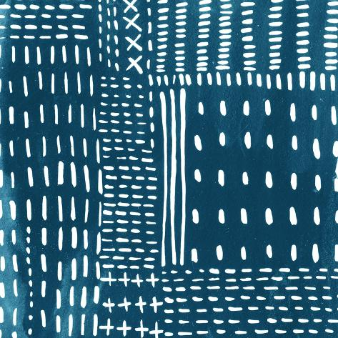 Sashiko Stitches III Premium Giclee Print