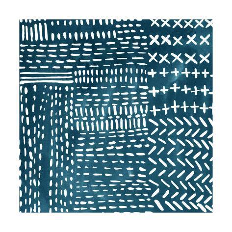 Sashiko Stitches IV Premium Giclee Print