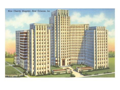 Charity Hospital, New Orleans, Louisiana Art Print
