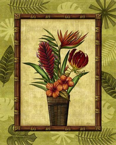 Paradisio Bouquet II Framed Art Print