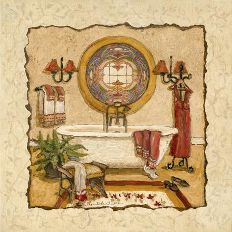 Art Deco Bath I Art Print