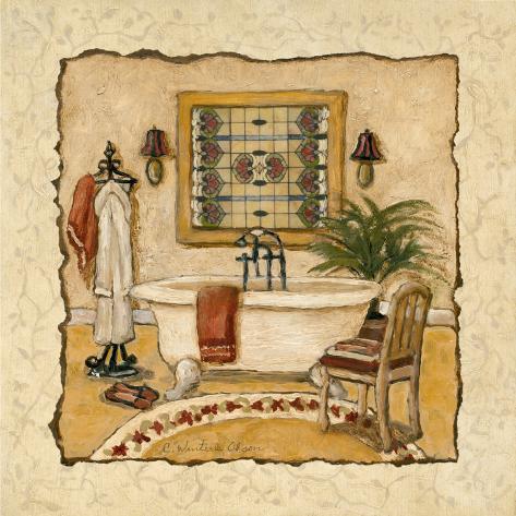 Art Deco Bath II Art Print